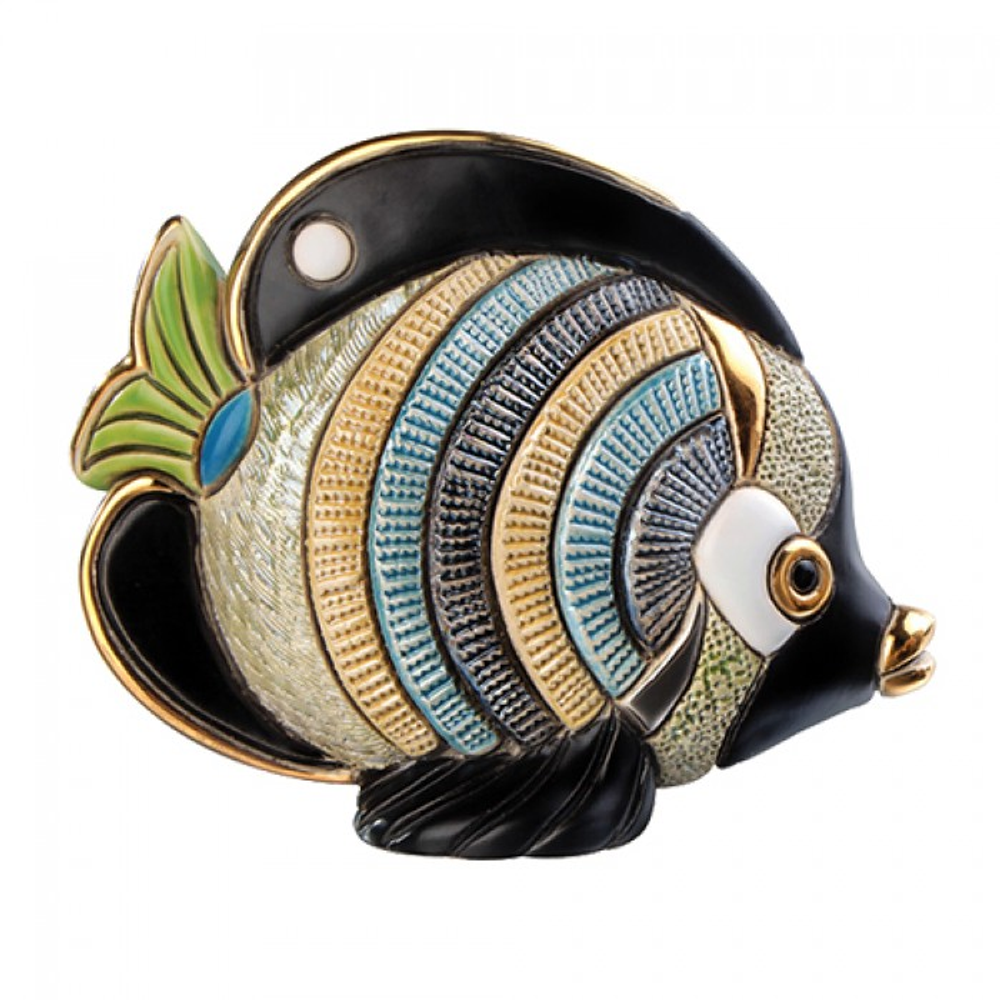 Butterfly Fish Family Ceramic Figurine Set of 2 | De Rosa | F154-F354 -2