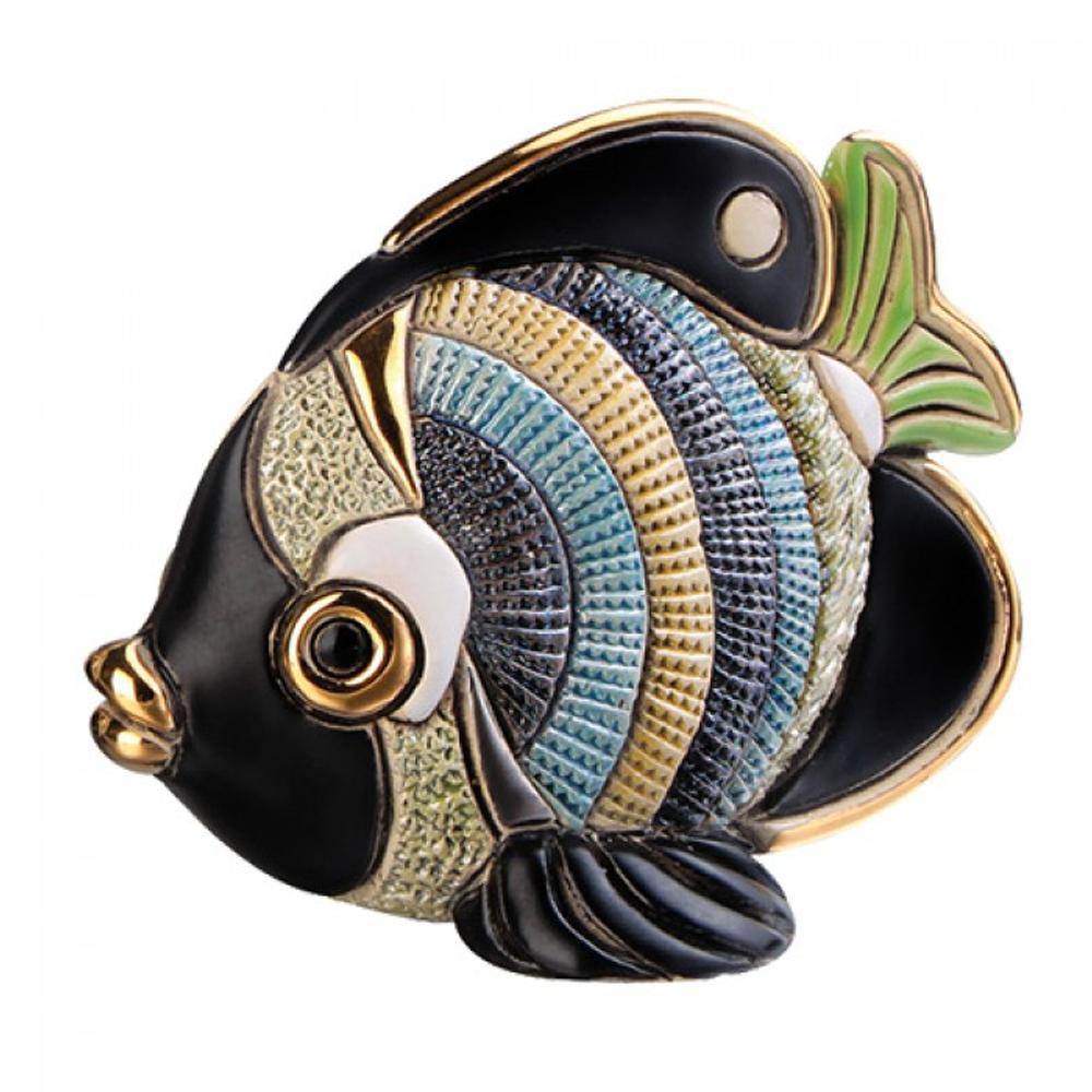 Butterfly Fish Family Ceramic Figurine Set of 2 | De Rosa | F154-F354 -3