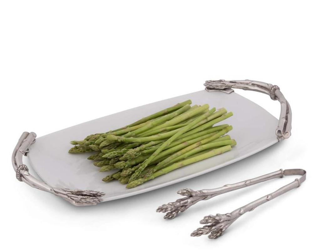 Asparagus Stoneware Platter   Vagabond House   G326