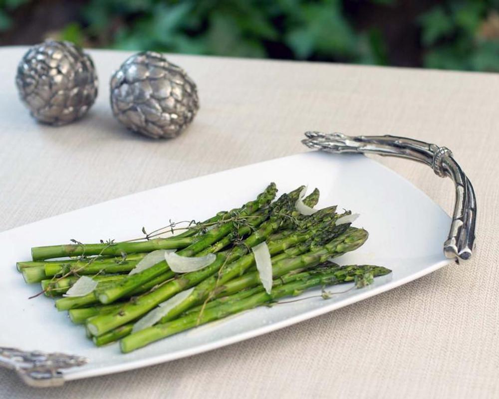 Asparagus Stoneware Platter | Vagabond House | G326