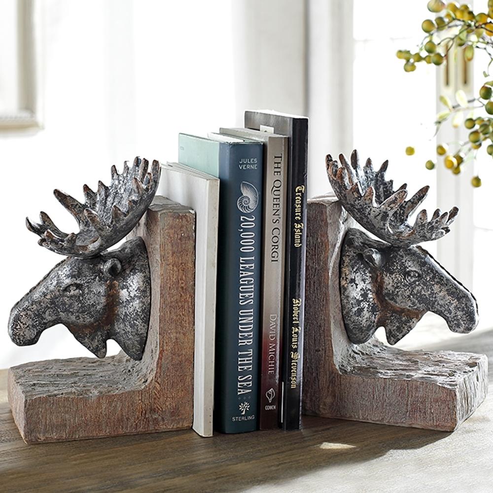Moose Sculptural Bookends | 48137 | SPI Home