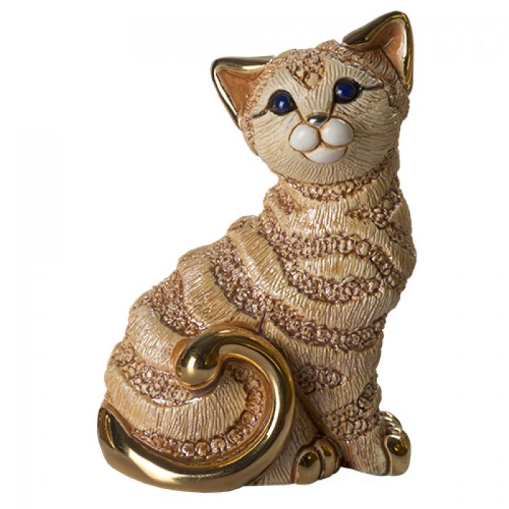 Ginger Cat Family Ceramic Figurine Set of 2 | De Rosa | F183-F383 -2