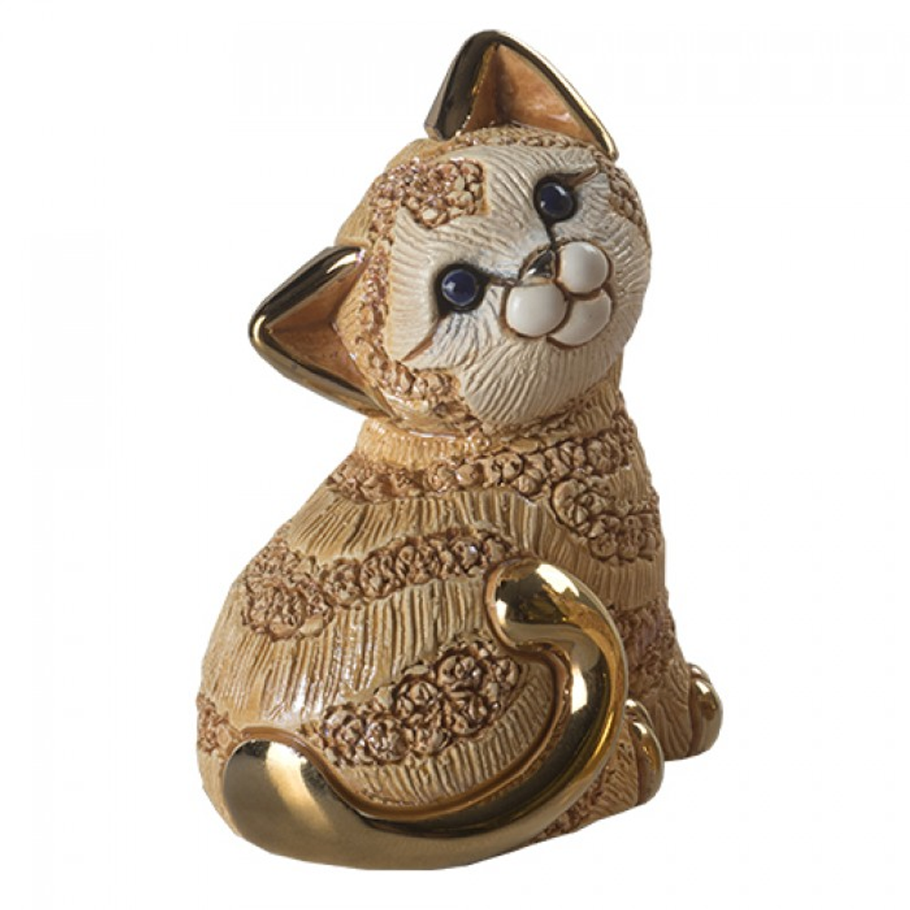 Ginger Cat Family Ceramic Figurine Set of 2 | De Rosa | F183-F383 -3