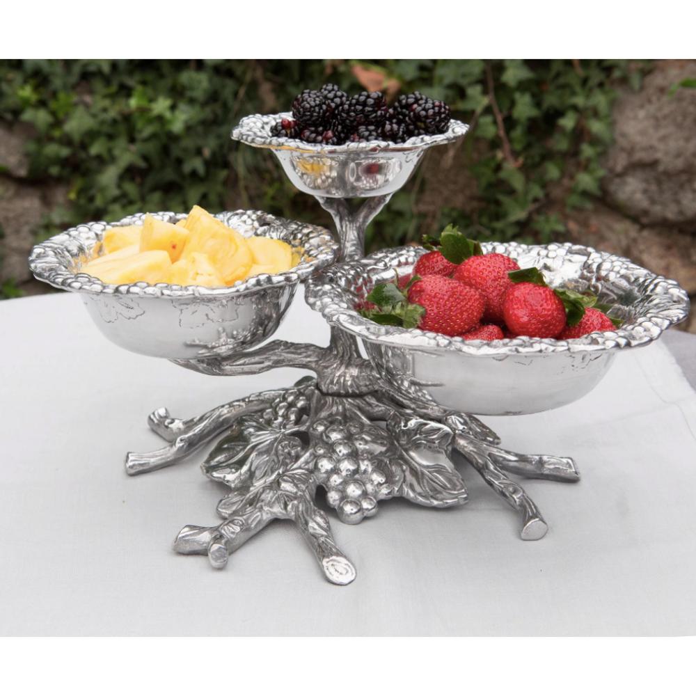 Grape 3-Tiered Bowl | Arthur Court Designs | 103584