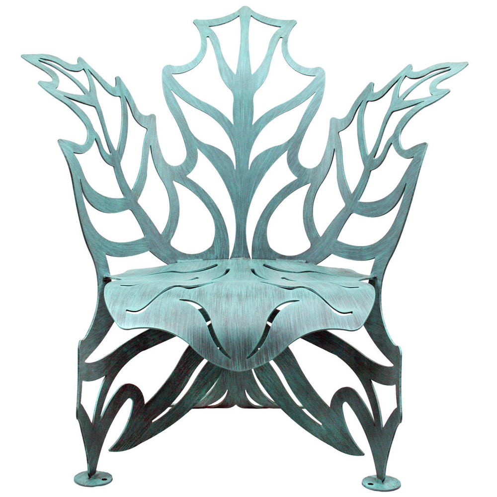Maple Leaf Outdoor Steel Chair | Cricket Forge | C014