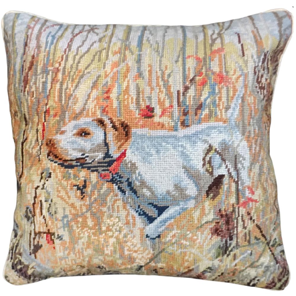 Lady Needlepoint Down Throw Pillow | Michaelian Home | MICNCU964SD