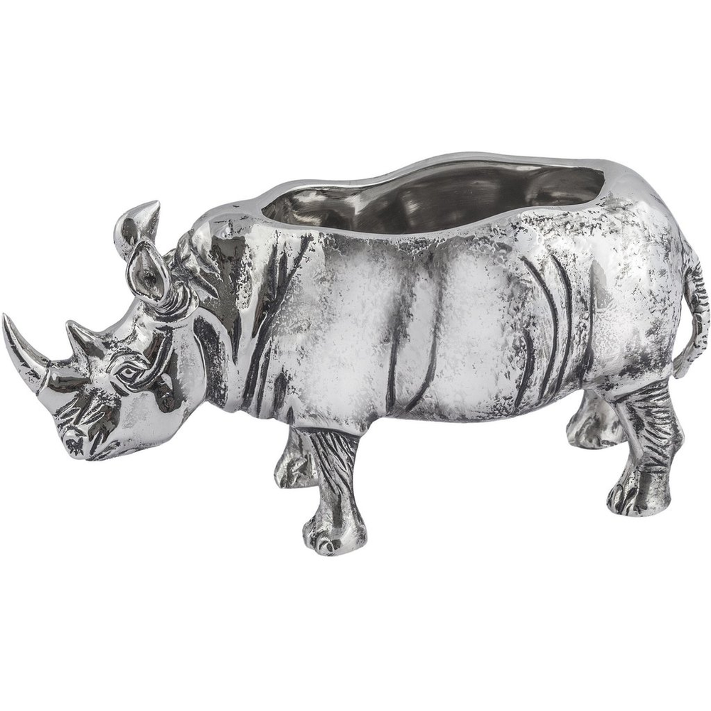 Safari Rhino Aluminum Bowl | Star Home Designs | 42121