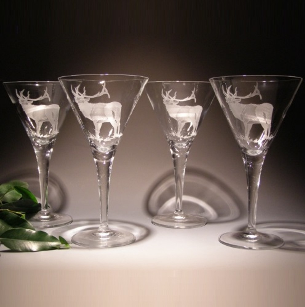Elk Crystal Martini Glass Set of 4 | Evergreen Crystal