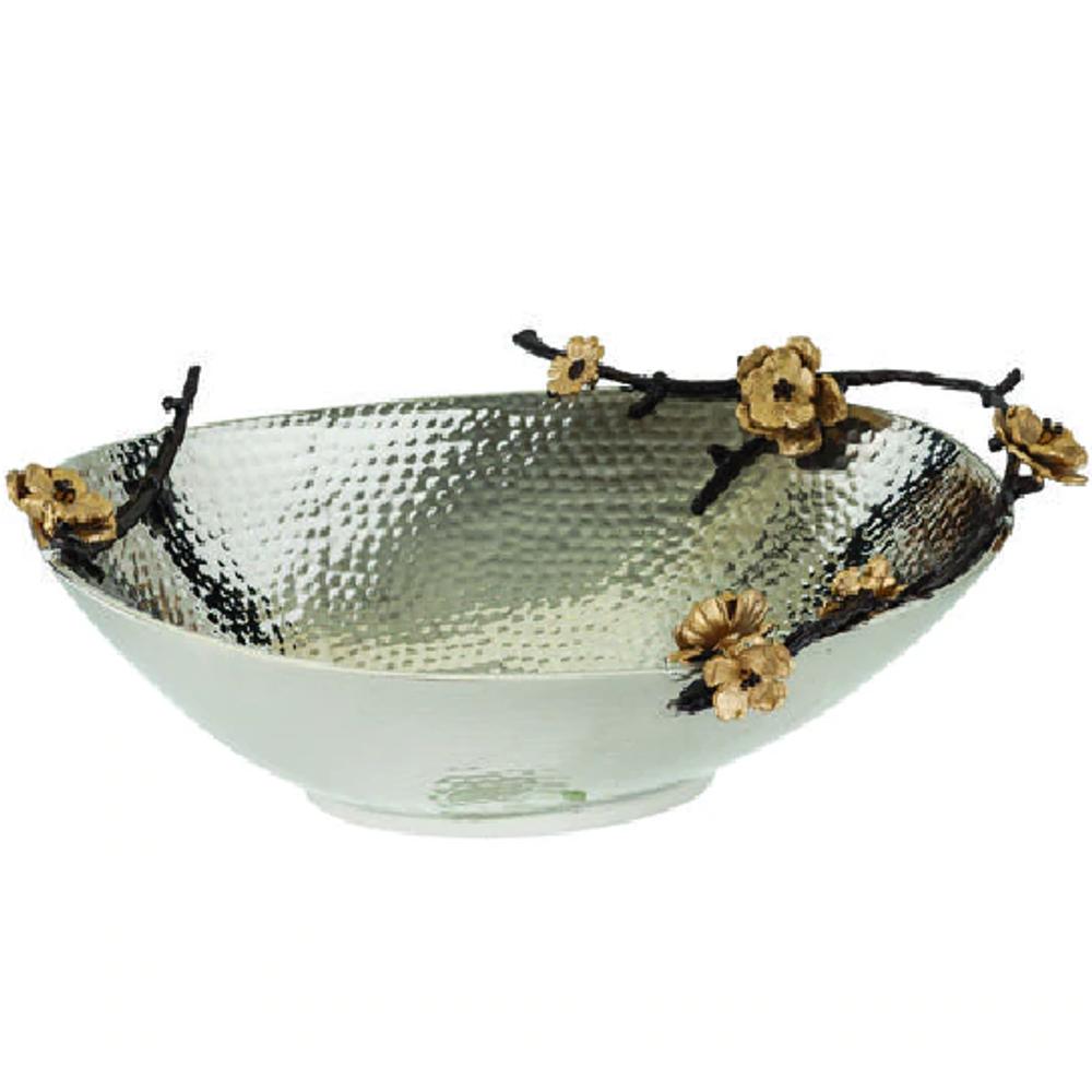 Wild Blossom Aluminum Oval Centerpiece Bowl | Star Home Designs | 40262