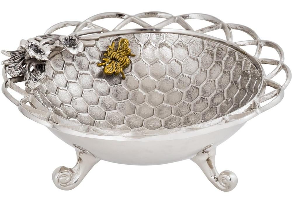 Bumble Bee Aluminum Centerpiece Bowl | Star Home Designs | 42292