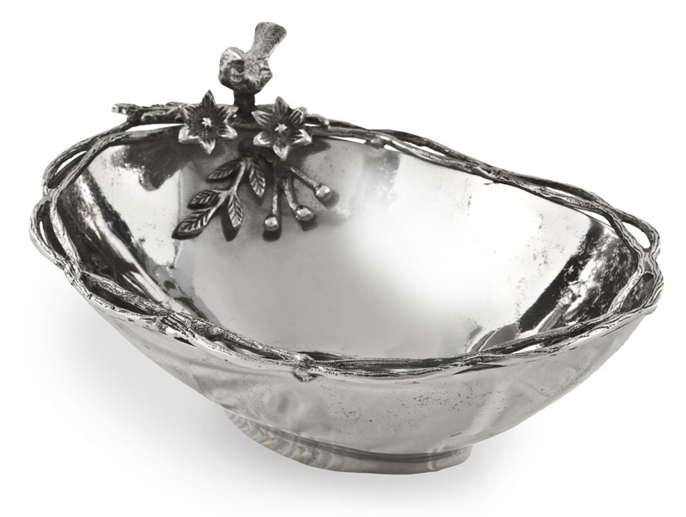 Birds and Branches Aluminum Centerpiece Bowl | Star Home Designs | 41404
