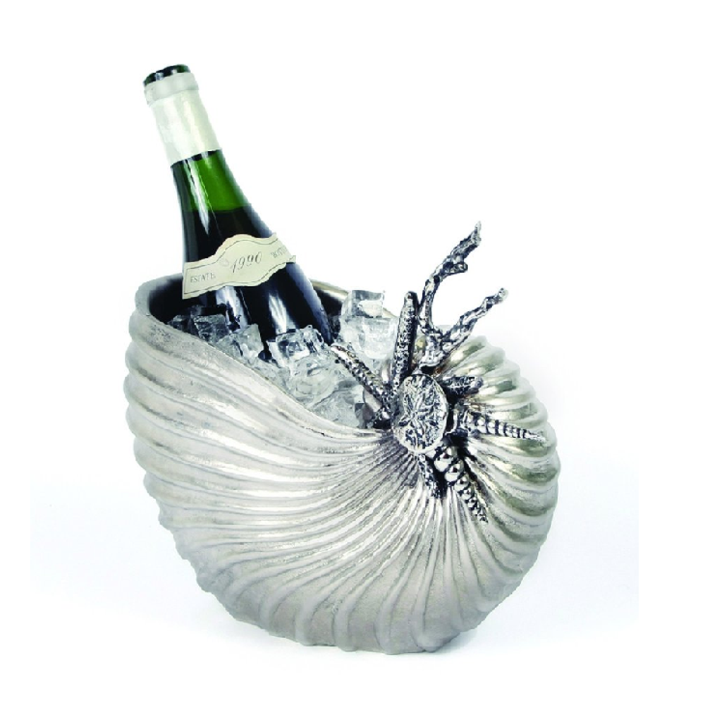 Nautilus Shell Aluminum Wine Chiller  | Star Home Designs | 40552