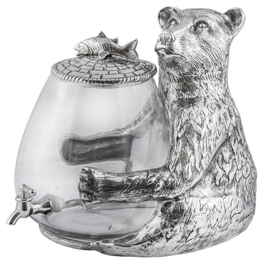 "Bear Aluminum and Glass Beverage Dispenser ""Lakeside"" | Star Home Designs | 42123"