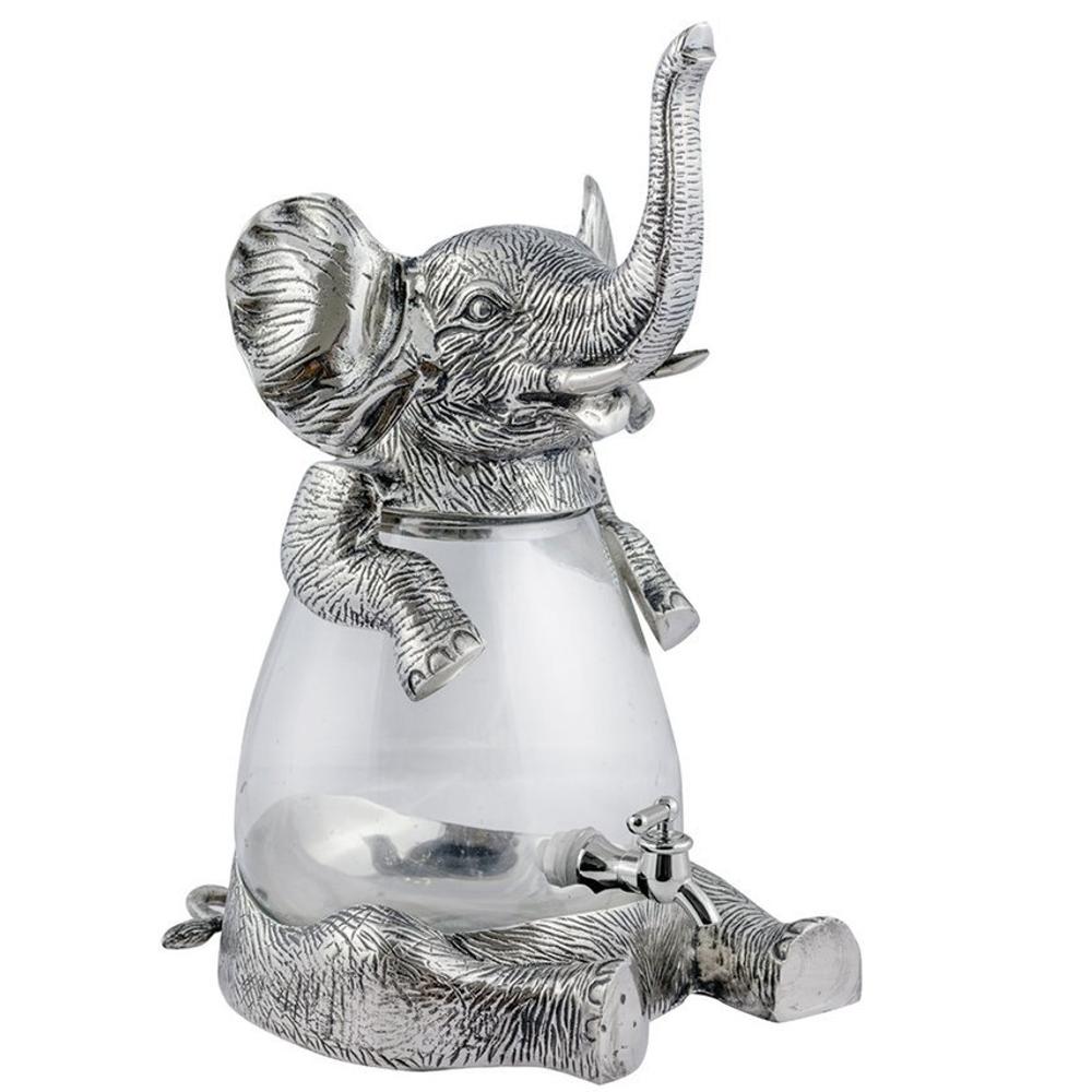 Elephant Aluminum and Glass Beverage Dispenser   Star Home Designs   42122