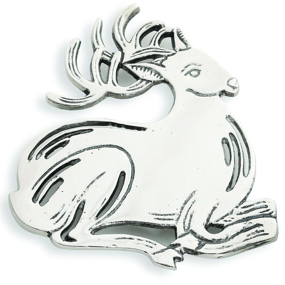 Deer Aluminum Trivet   Star Home Designs   41894