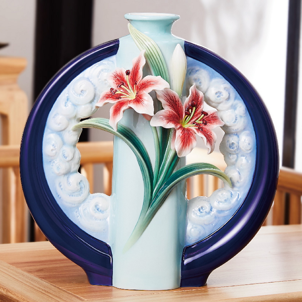 "Lily Porcelain Vase ""Wishes Come True"" 