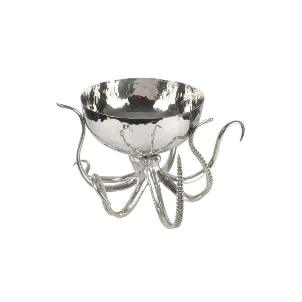 Octopus Pewter Punch Bowl Ice Tub | Vagabond House | O819O