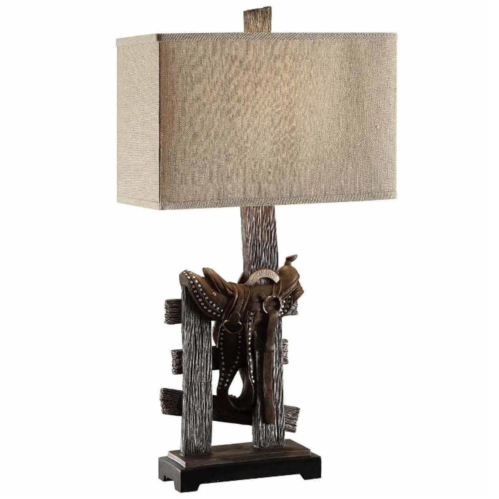 Saddle Table Lamp | Crestview Collection | CVCCVAVP160