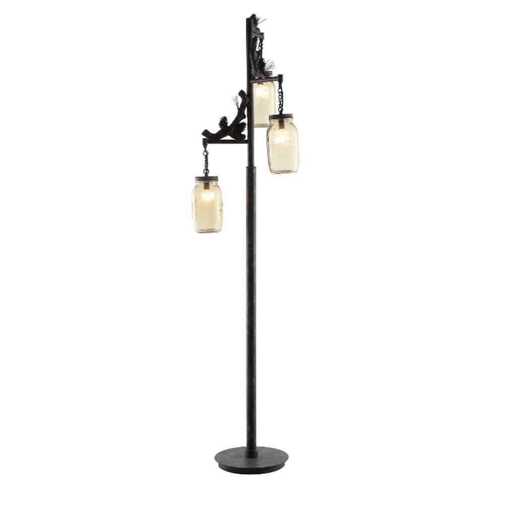 Pinecone Fire Catcher Floor Lamp | Crestview Collection | CVCCVAER740