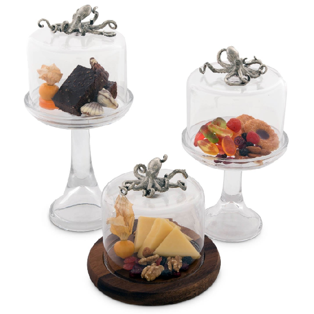 Octopus Cheese Board with Glass Dome | Vagabond House | VHCO236TKP -2