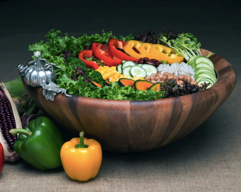 Pumpkin Harvest Salad Serving Bowl | Vagabond House | VHCG234PK
