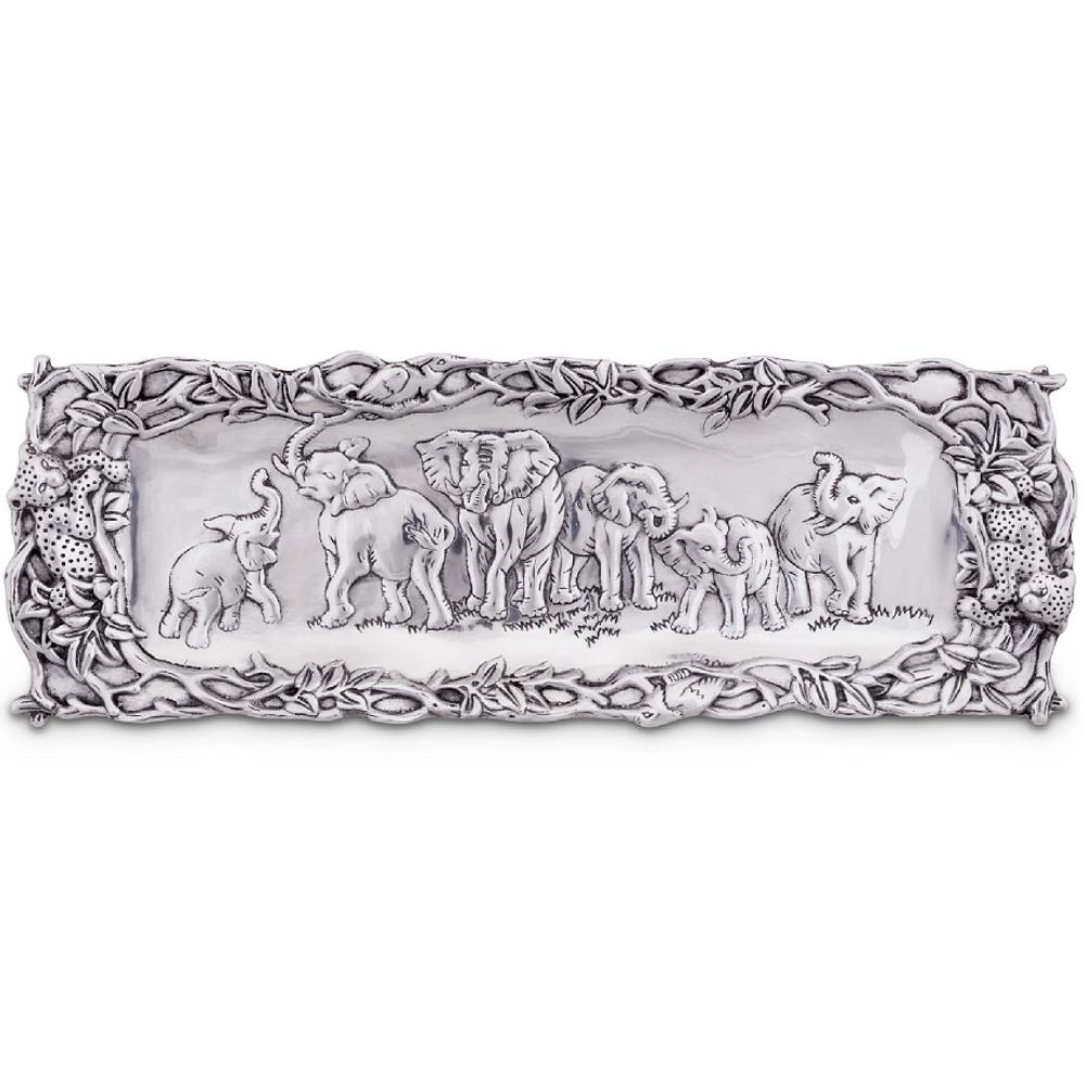 Elephant Aluminum Serving Tray | Arthur Court Designs | 103078