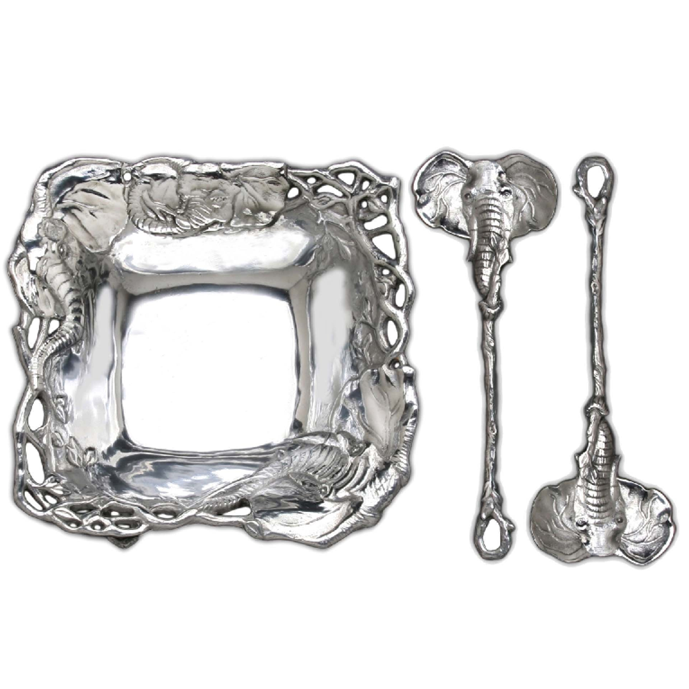 Elephant Aluminum Salad Set | Arthur Court Designs | 103222
