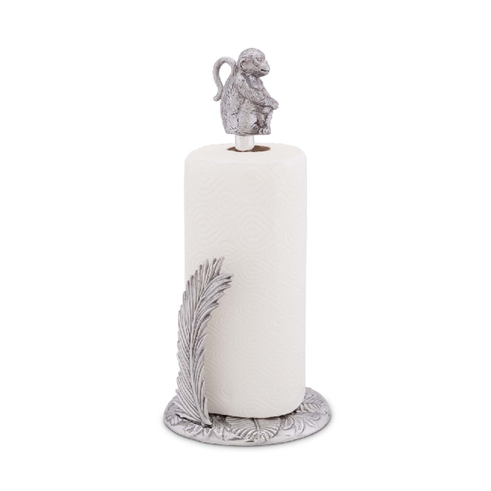 Monkey Safari Aluminum Paper Towel Holder | Arthur Court Designs | 293S12