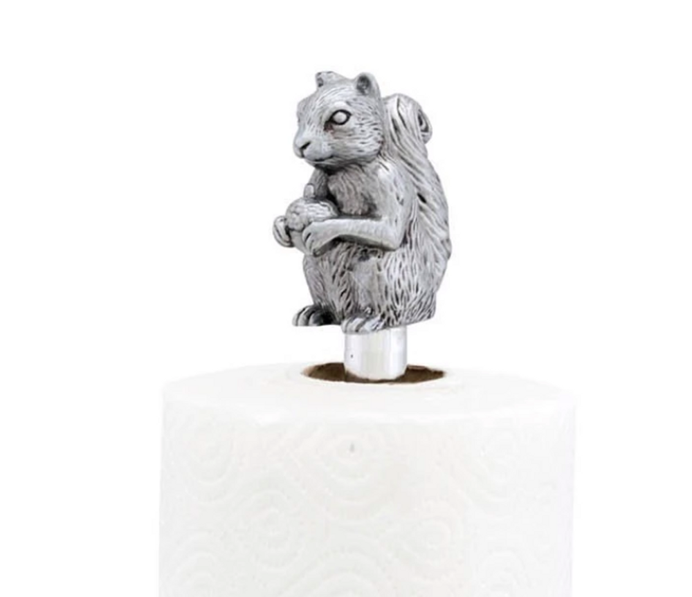 Squirrel Aluminum Paper Towel Holder | Arthur Court Designs | 293L12