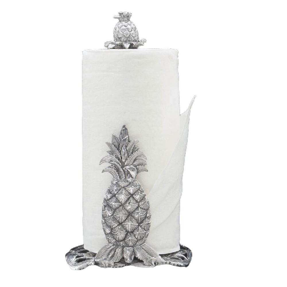 Pineapple Aluminum Paper Towel Holder | Arthur Court Designs | 550070