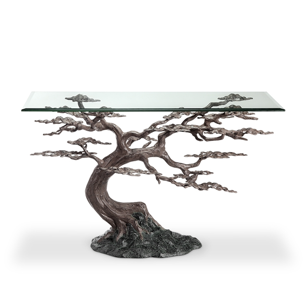 Cypress Tree Aluminum Tree Console Table   SPI Home   34933