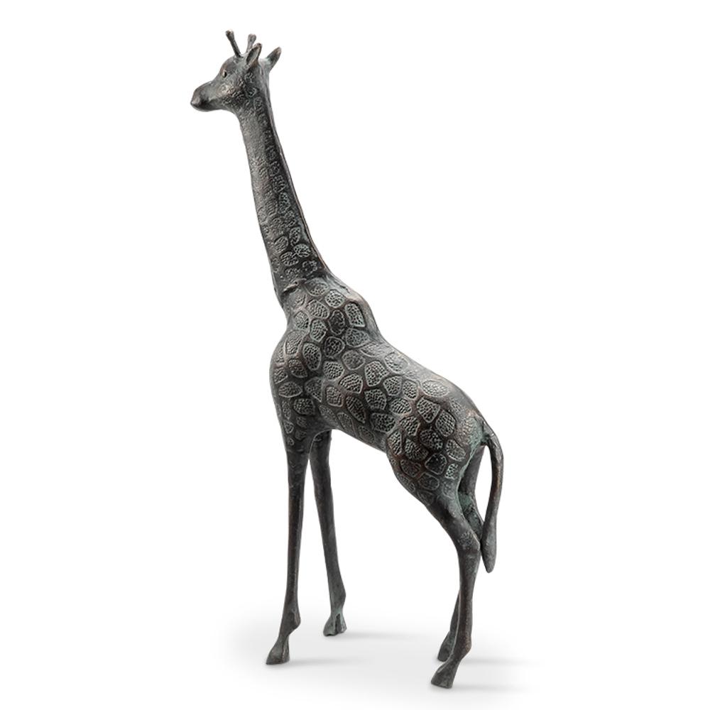 Giraffe Cast Iron Sculpture   SPI Home   51095