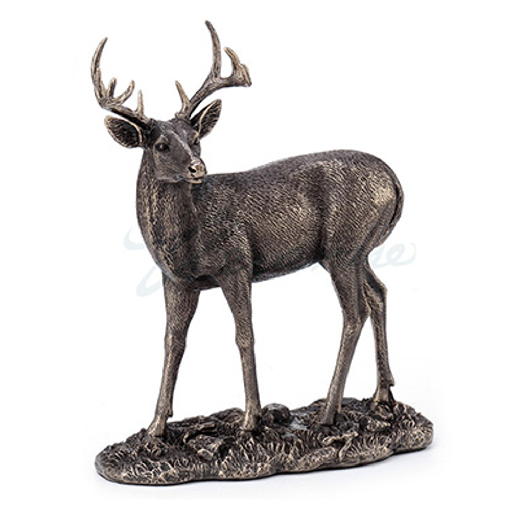 Deer Sculpture   Bronze Finish   Unicorn Studios   WU77568A1