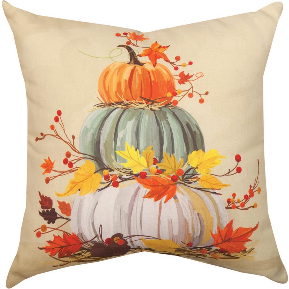 Stacked Pumpkins Indoor Outdoor Throw Pillow   SLSKPK