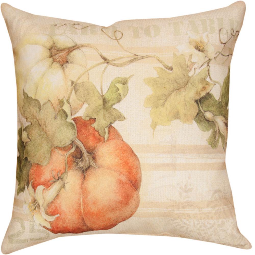 "Pumpkins Indoor Outdoor Throw Pillow ""Farm to Table"" | SLPFTT"