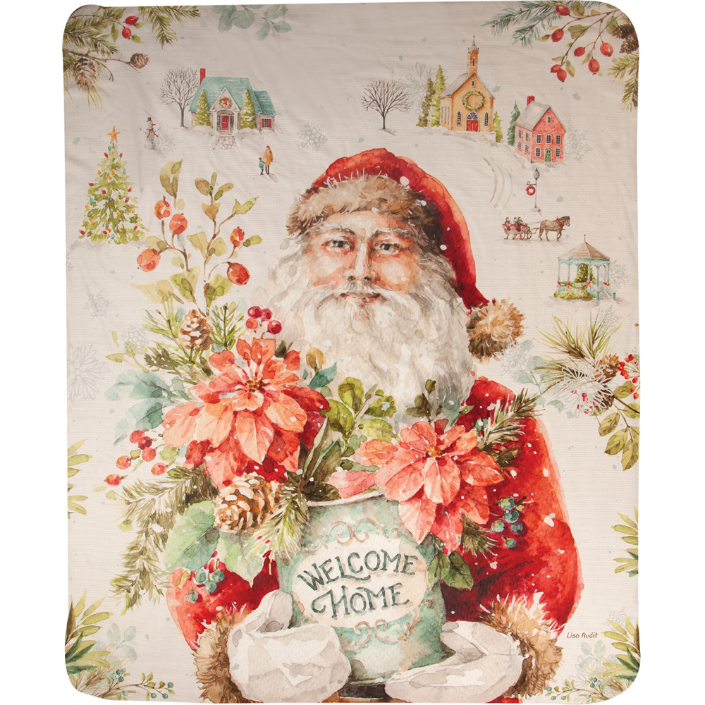 "Santa Throw Blanket ""Our Christmas Story"" 