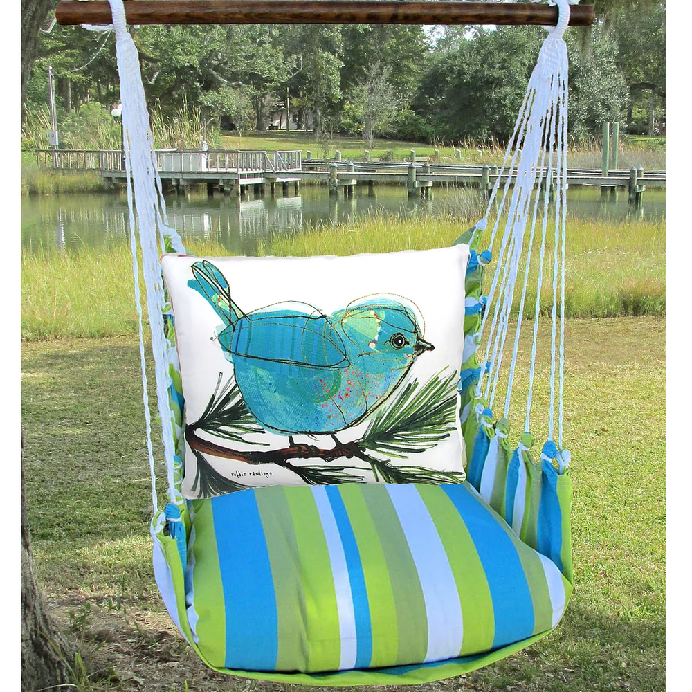 Bluebird on Branch Hammock Chair Swing   Magnolia Casual   BBRR908-SP