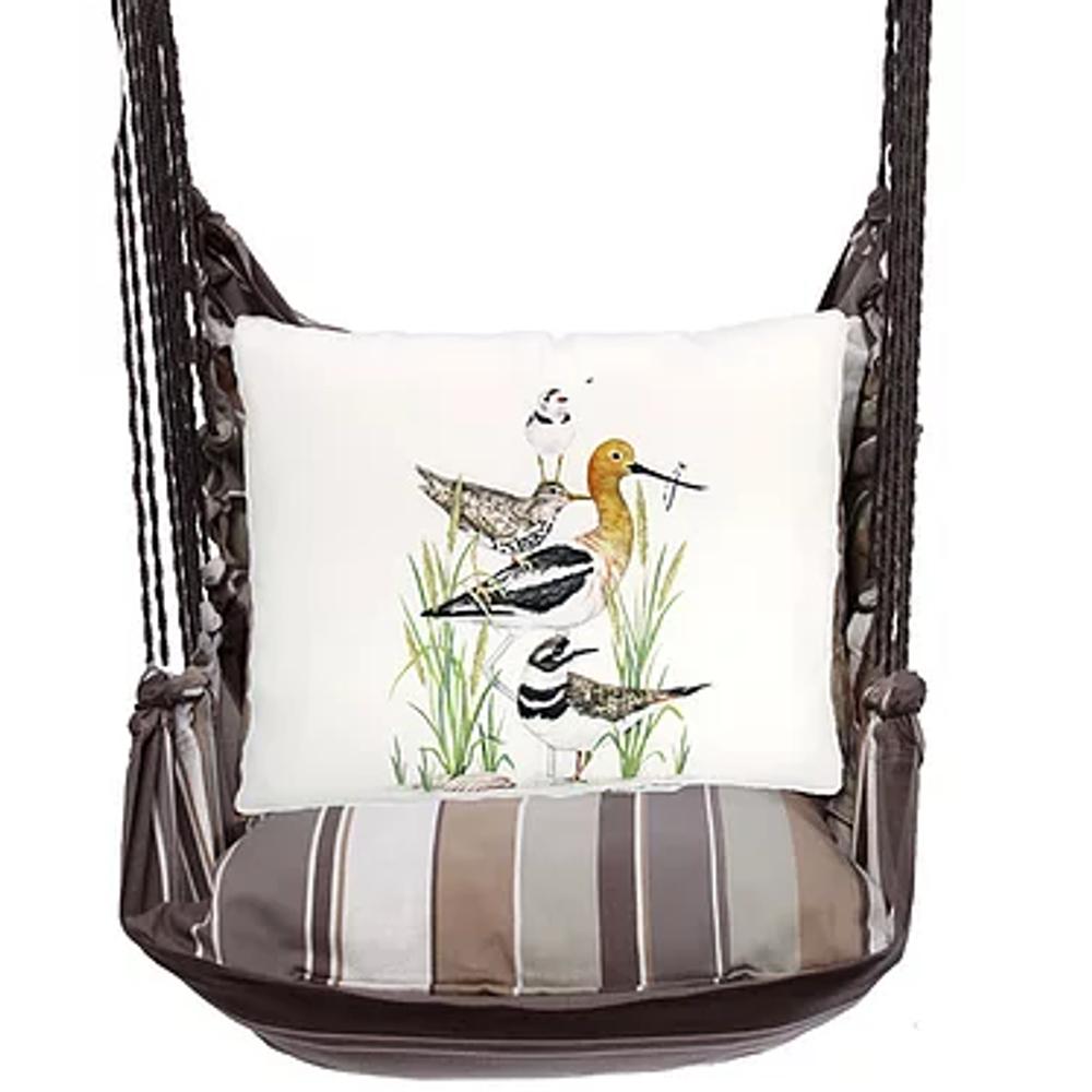 "Shorebirds Hammock Chair Swing ""Slate Gray""   Magnolia Casual   SGMLT901-SP"