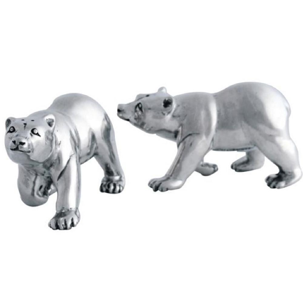 Pewter Polar Bear Salt Pepper Shakers | Vagabond House | V924