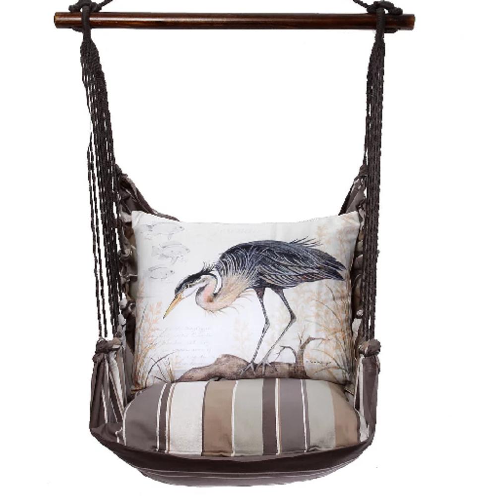 "Crane Hammock Chair Swing ""Slated Gray"" | Magnolia Casual | SGSW903-SP"