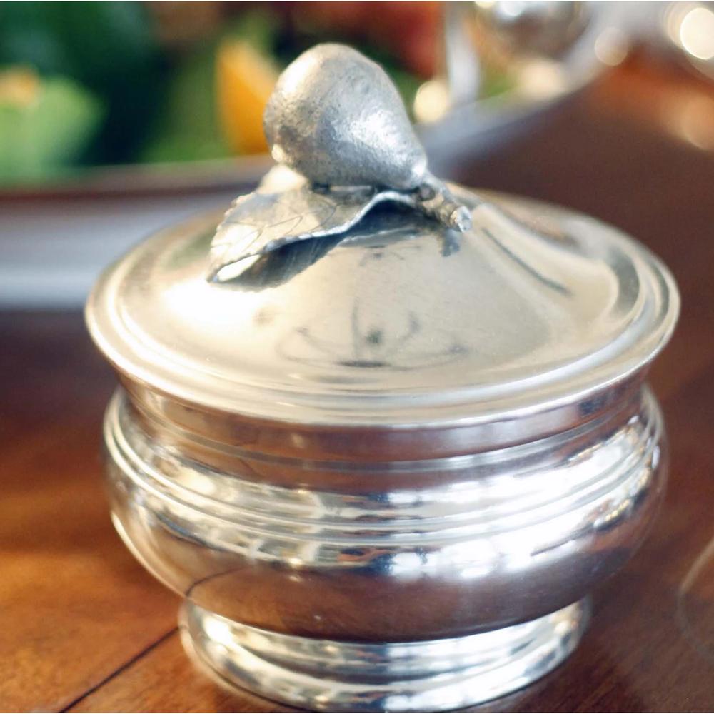 Pear Pewter Sauce Bowl   Vagabond House   VHCG106P