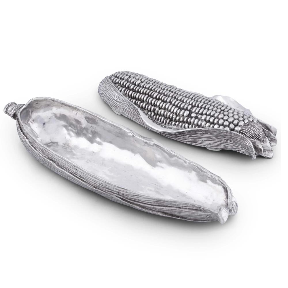 Corn Pewter Butter Dish | Vagabond House | H108CR
