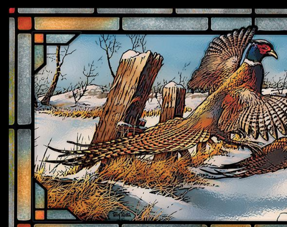 Pheasants Stained Glass Art | Clearing the Rail | Wild Wings | 5386500017