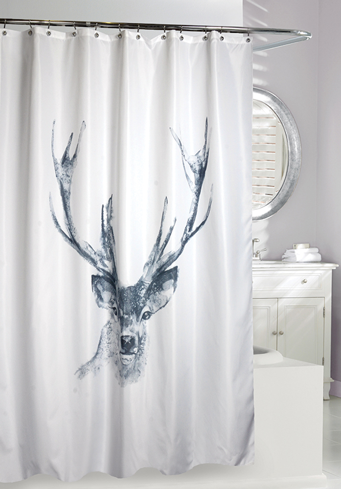 "Deer Fabric Shower Curtain ""Alberta"" | Moda at Home"