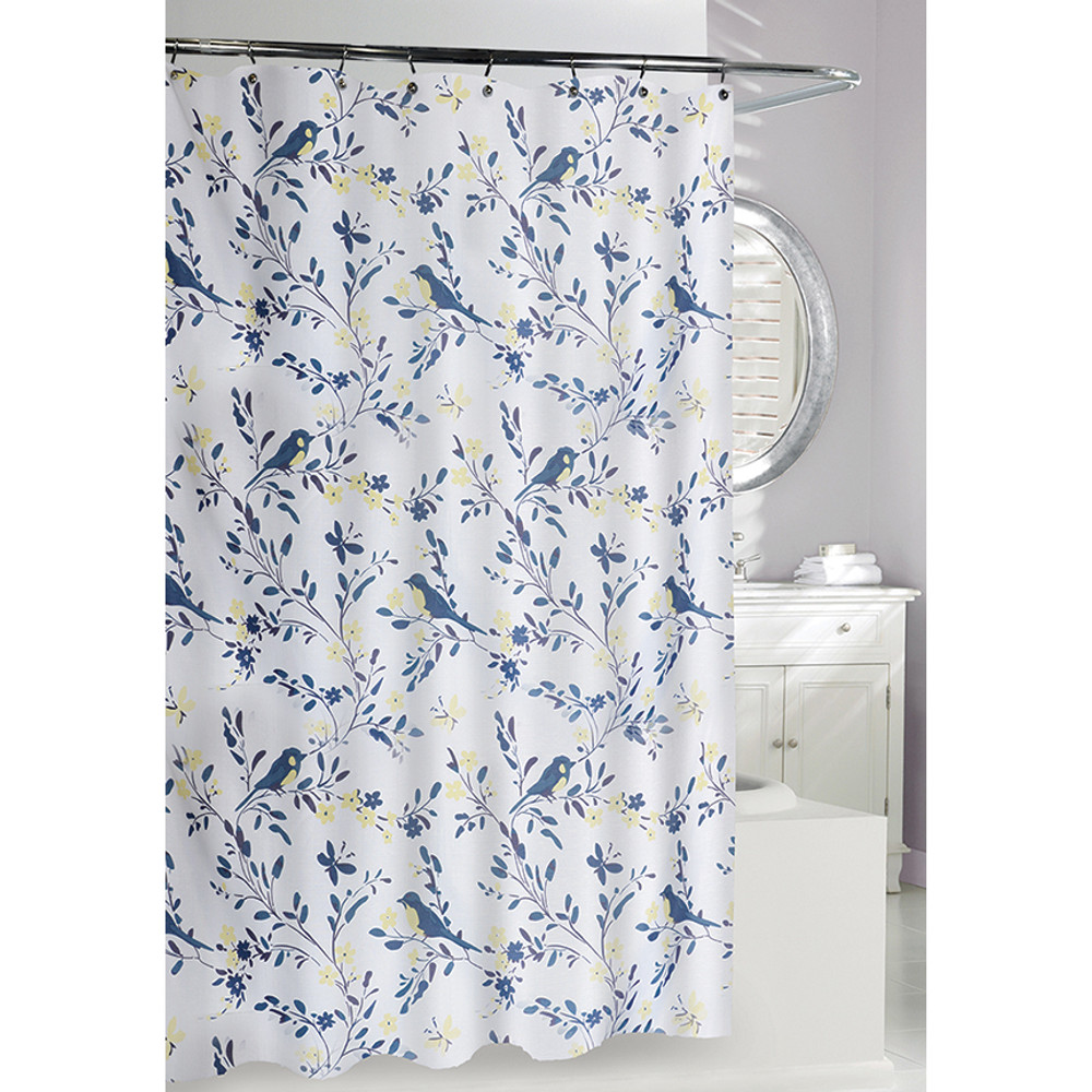 Birds of a Feather Fabric Shower Curtain | Moda at Home
