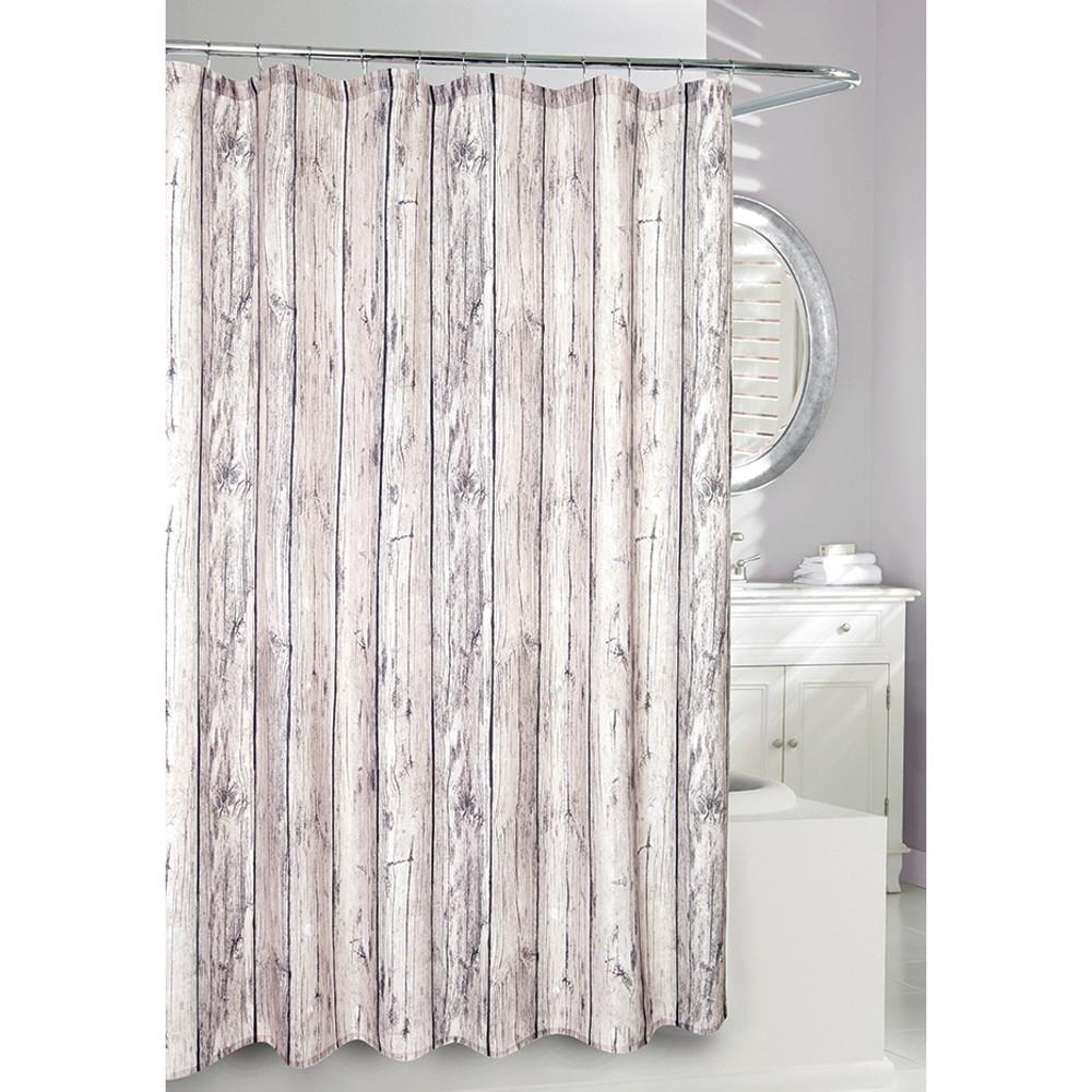 Oak Wood Fabric Shower Curtain | Moda at Home