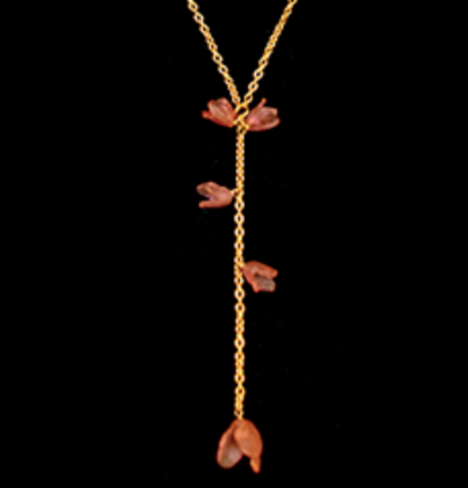 "Apple Blossom 18"" Drop Pendant Necklace   Nature Jewelry   Michael Michaud   9274BZ"