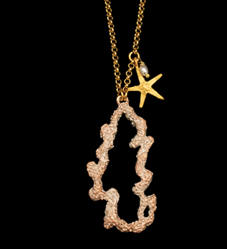 """Coral Reef 24"""" Pendant Necklace 