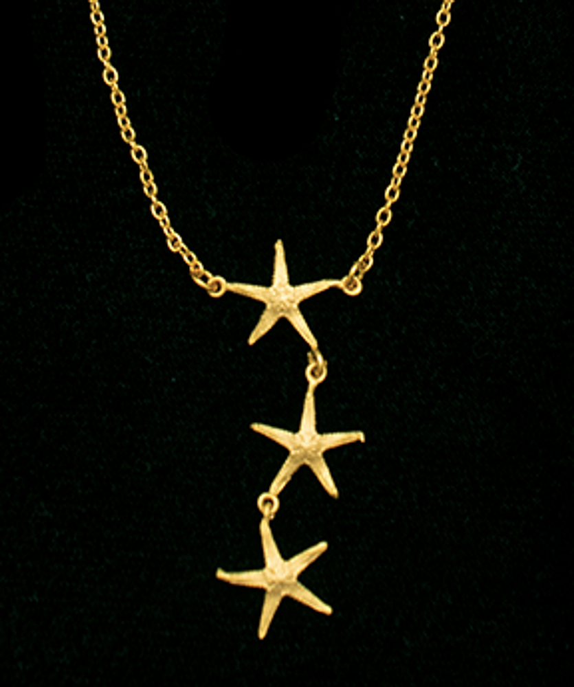 "Starfish Coral Reef Star 16"" Pendant Necklace 