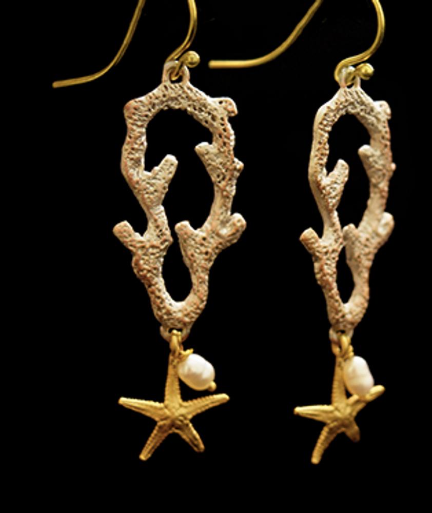 Coral Reef Wire Earrings | Michael Michaud | 3547BZ